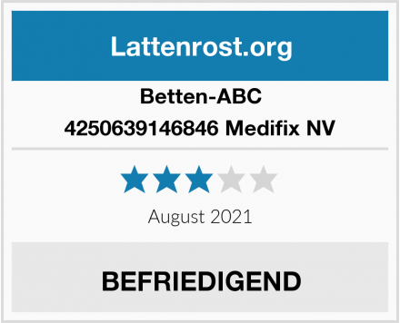 Betten-ABC 4250639146846 Medifix NV Test