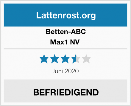 Betten-ABC Max1 NV  Test
