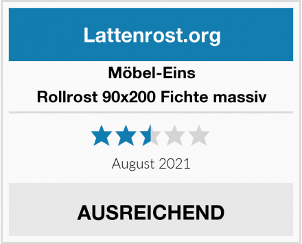 Möbel-Eins Rollrost 90x200 Fichte massiv Test