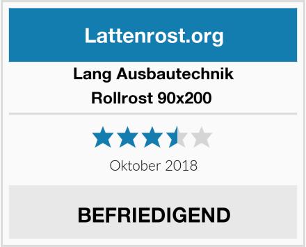 LANG Ausbautechnik Rollrost 90x200  Test
