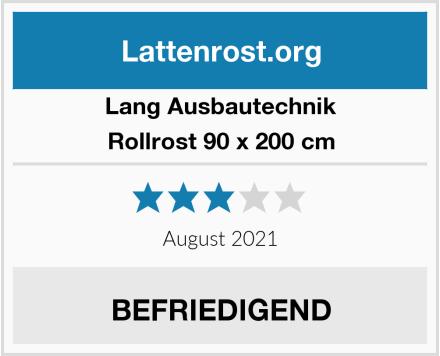 LANG Ausbautechnik Rollrost 90 x 200 cm Test