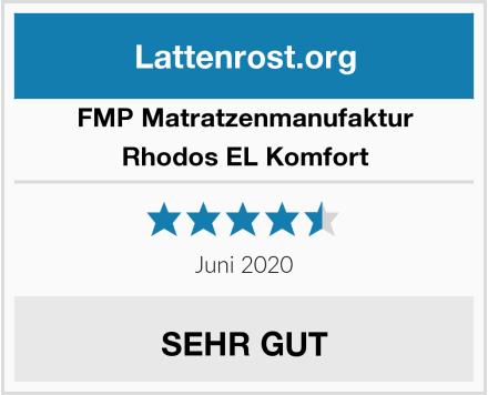 FMP Matratzenmanufaktur Rhodos EL Komfort Test