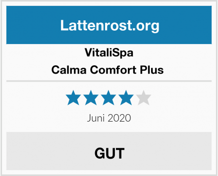 VitaliSpa Calma Comfort Plus  Test
