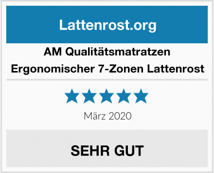 AM Qualitätsmatratzen Ergonomischer 7-Zonen Lattenrost Test