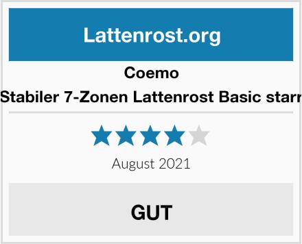 Coemo Stabiler 7-Zonen Lattenrost Basic starr Test
