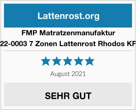 FMP Matratzenmanufaktur 22-0003 7 Zonen Lattenrost Rhodos KF Test