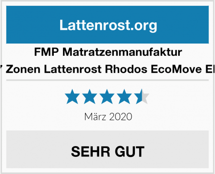 FMP Matratzenmanufaktur 7 Zonen Lattenrost Rhodos EcoMove EL Test