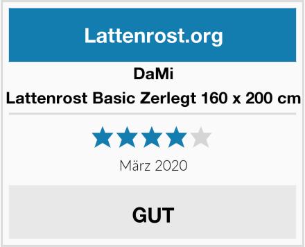DaMi Lattenrost Basic Zerlegt 160 x 200 cm Test