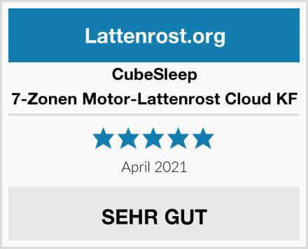 CubeSleep 7-Zonen Motor-Lattenrost Cloud KF Test